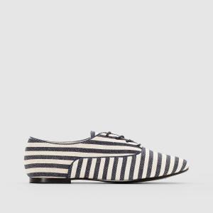 Ботинки-дерби тканевые La Redoute Collections. Цвет: белый/синий