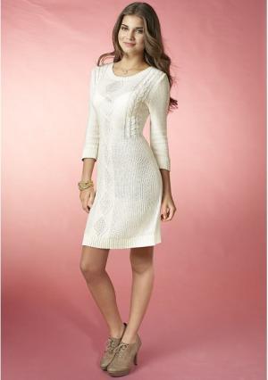 Платье Y.O.U.. Цвет: цвет белой шерсти