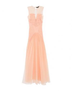 Длинное платье ELISABETTA FRANCHI. Цвет: абрикосовый