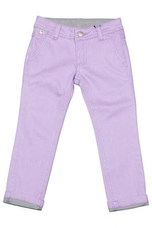 Брюки FuN&FuN. Цвет: фиолетовый