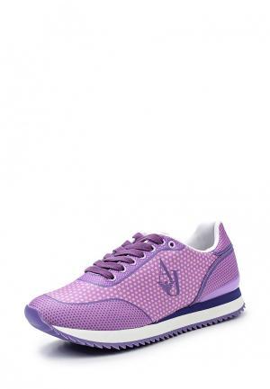 Кроссовки Armani Jeans. Цвет: фиолетовый