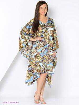 Платье - туника LIZA MACCONY. Цвет: голубой