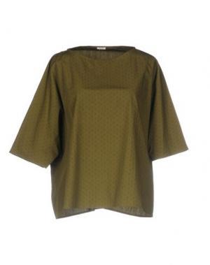Блузка A.B APUNTOB. Цвет: зеленый-милитари