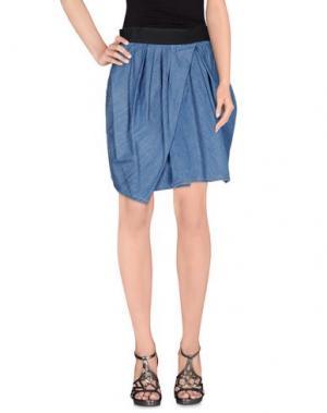 Джинсовая юбка DONDUP. Цвет: синий
