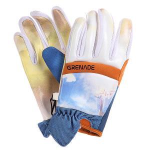 Перчатки сноубордические  Blast Off Glove Orange Grenade. Цвет: белый,оранжевый,голубой