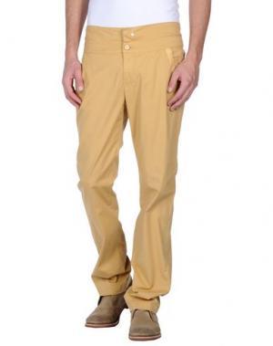 Повседневные брюки MANILA GRACE. Цвет: охра