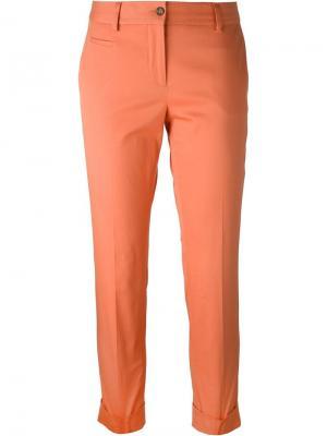 Укороченные брюки строгого кроя Alberto Biani. Цвет: жёлтый и оранжевый