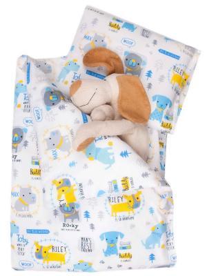Комплект 5 предметов Собачки DAISY. Цвет: светло-голубой,серый меланж,желтый
