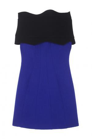Хлопковое платье Chapurin. Цвет: синий, черный