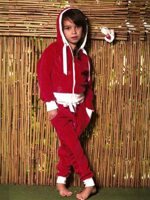 Велюровый костюм babyAngel. Цвет: красный