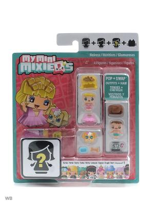 Набор из трех фигурок My Mini Mixiqes Mattel. Цвет: бирюзовый, прозрачный, розовый