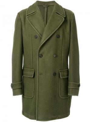Двубортное пальто Jeckerson. Цвет: зелёный