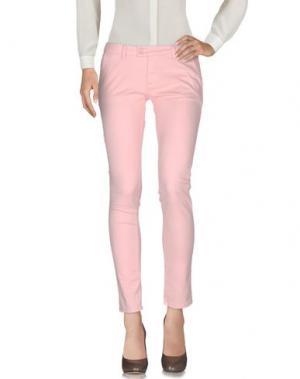 Повседневные брюки DUCK FARM. Цвет: розовый