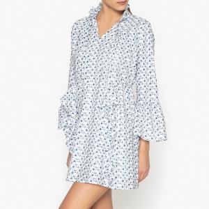 Платье объемное с вышивкой и воланами SISTER JANE. Цвет: белый