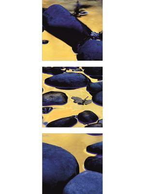Картина модульная из квадратов ДСТ. Цвет: синий, желтый