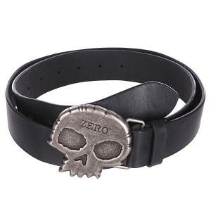 Ремень  Skull Buckle Zero. Цвет: черный