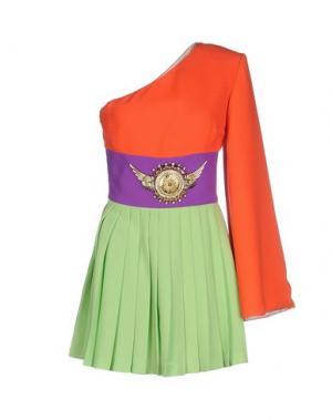 Короткое платье FAUSTO PUGLISI. Цвет: коралловый