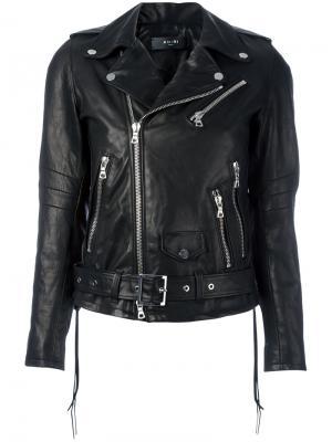 Укороченная байкерская куртка Amiri. Цвет: чёрный