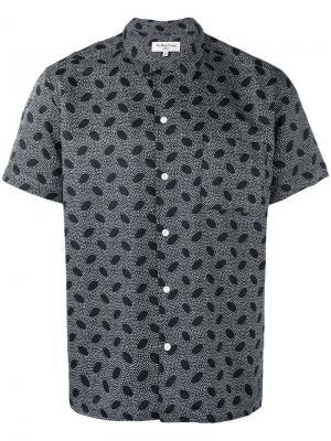 Рубашка с мелким узором YMC. Цвет: чёрный