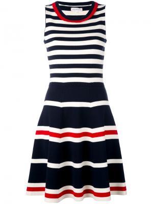 Приталенное платье в полоску Chinti & Parker. Цвет: синий