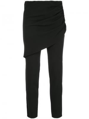 Строгие брюки скинни Elaidi. Цвет: чёрный