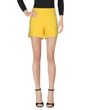 Повседневные шорты LOU LONDON. Цвет: желтый