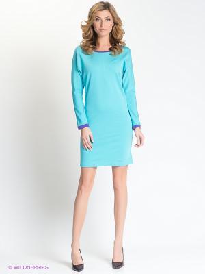 Платье Анна Чапман. Цвет: голубой, фиолетовый