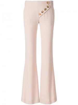 Расклешенные брюки Chloé. Цвет: телесный