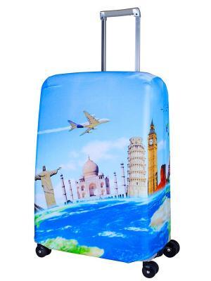Чехол для чемодана Voyager M/L Coverway. Цвет: голубой