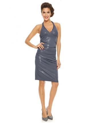 Коктейльное платье. Цвет: серый