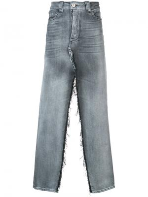 Джинсовая юбка с высокими разрезами Unravel Project. Цвет: чёрный