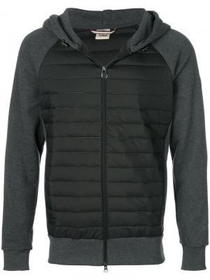 Куртка-пуховик с рукавами из джерси Colmar. Цвет: серый