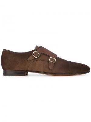 Повседневные ботинки-монки Santoni. Цвет: коричневый