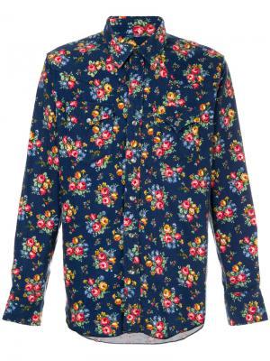 Рубашка с цветочным принтом Engineered Garments. Цвет: многоцветный