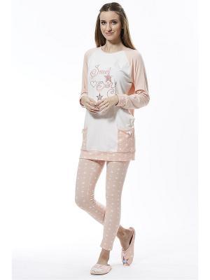Пижама RELAX MODE. Цвет: персиковый