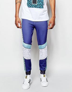 Wasted Youth Спортивные штаны. Цвет: синий
