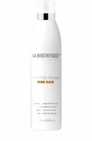 Шампунь для придания объема тонким волосам La Biosthetique. Цвет: бесцветный