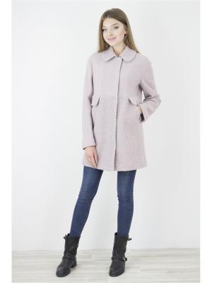 Пальто Elema. Цвет: розовый