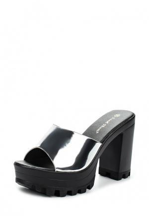 Сабо Sweet Shoes. Цвет: серебряный