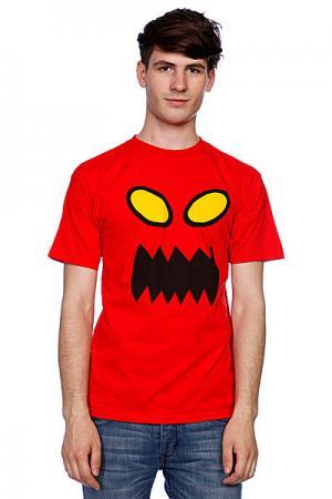 Футболка  Monster Face Red Toy Machine. Цвет: красный