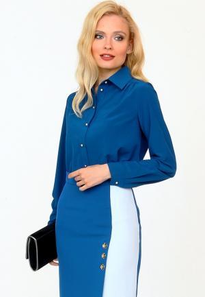 Блуза MARI VERA. Цвет: синий