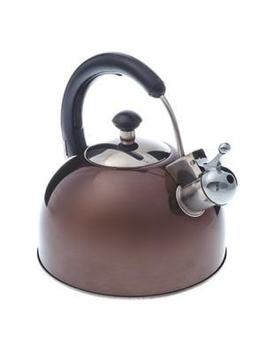 Чайник стальной 2.5л цвет золотистое шампанское RWK-033-2.5L-B, индукция Vetta. Цвет: золотистый