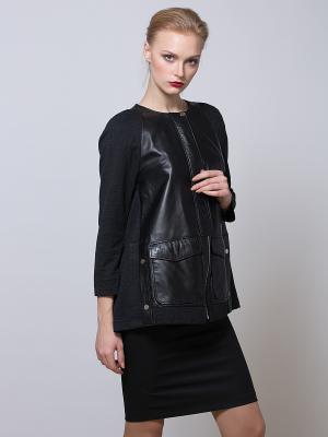 Куртка из кашемира SARTORI DODICI. Цвет: черный