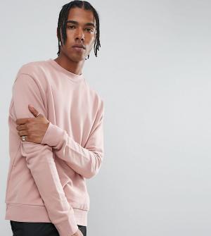 Mennace Розовый свитшот с заниженной линией плеч. Цвет: розовый