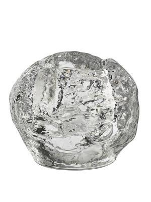 Snowball подсвечник h 70mm Kosta Boda. Цвет: прозрачный