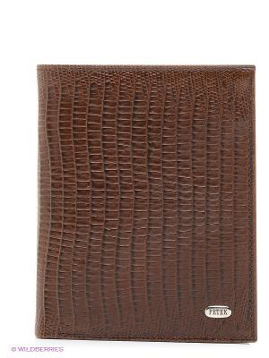Портмоне Petek. Цвет: коричневый, лазурный