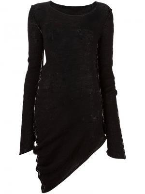 Асимметричное платье Masnada. Цвет: чёрный