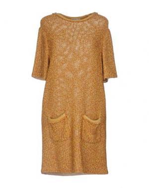 Короткое платье VERONIQUE LEROY. Цвет: охра