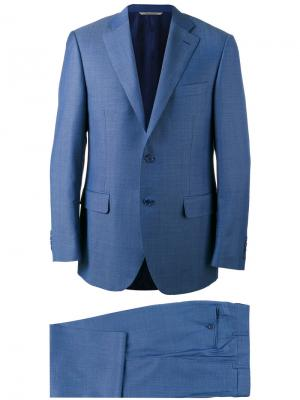 Классический костюм-двойка Canali. Цвет: синий