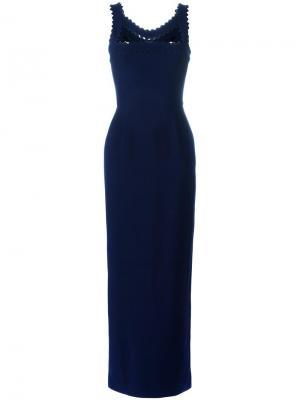 Вечернее платье Aviden Roksanda. Цвет: синий